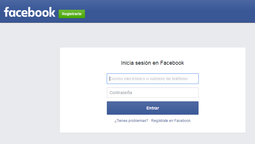 acceso a facebook
